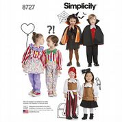 8727 Simplicity Pattern: Kids' Costumes